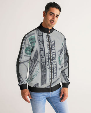 Men's Stripe-Sleeve Money Track Jacket