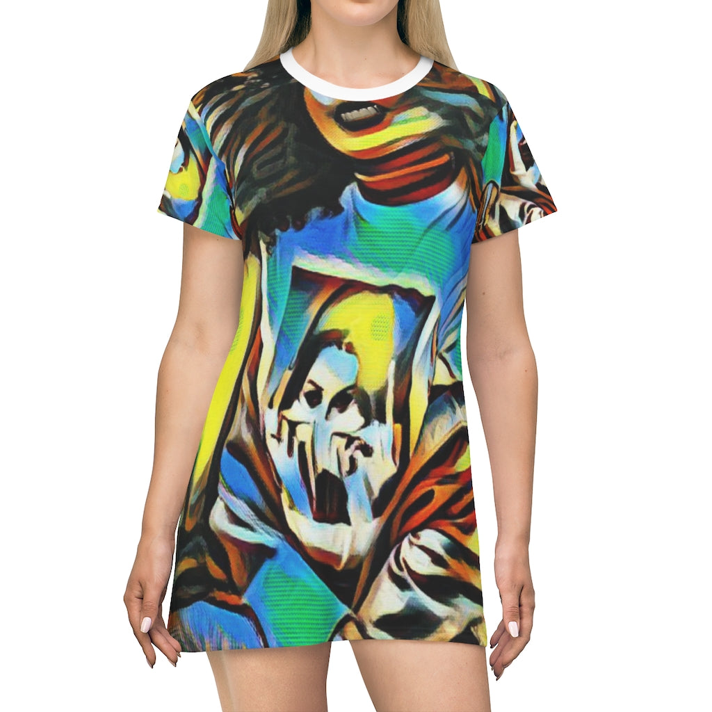 Bad Girl, Mean Grills Oversized T-Shirt/T- Dress