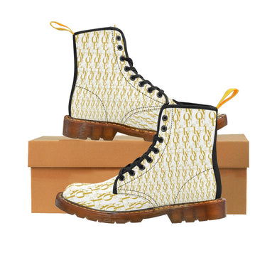📮📦 LV WEAR (LOVE edition/gold on white) Women's Martin Boots