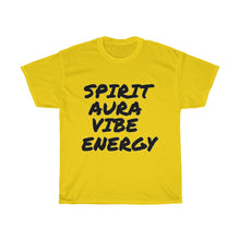 "Load image into Gallery viewer, "" Spirit Aura Vibe Energy "" Unisex Heavy Cotton Tee"