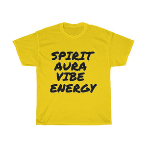 """ Spirit Aura Vibe Energy "" Unisex Heavy Cotton Tee"