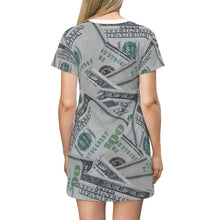 Load image into Gallery viewer, Hun-Duns Money T-shirt Dress