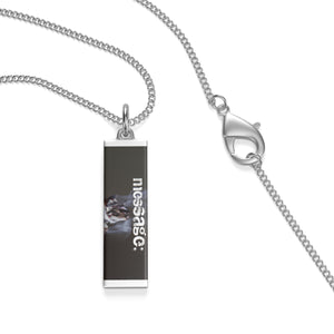 mesSAGE single loop laurel coined necklace