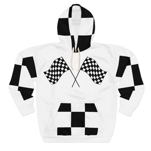 "Nipsey Hussle inspired "" To Be Continued "" Marathon Flag Unisex Hoodie (white/checkered pocket) Unisex Pullover Hoodie"