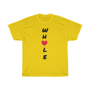 """ Whole ""  (with heart) UNISEX Heavy Cotton Tee"