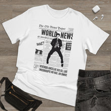 Load image into Gallery viewer, World News ELVIS Unisex Deluxe T-shirt (White w/black)