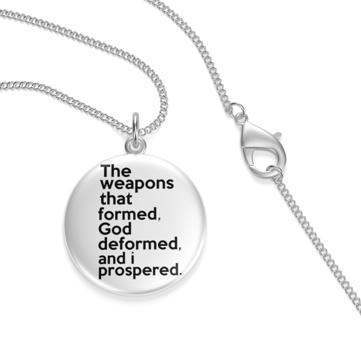 The Weapons That Formed ...sacred reminder Single Loop Necklace