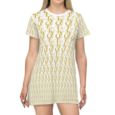 LV WEAR™ (gold) T-shirt Dress