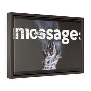 mesSAGE  Horizontal Framed Premium Gallery Wrap Canvas (wall decor)