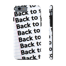 "Load image into Gallery viewer, ""BACK TO SCHOOL""  Notebook Case Mate Tough Phone Cases (iPhone XR - Samsung Galaxy S6 Tough)"