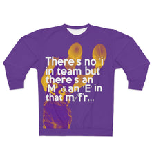 Load image into Gallery viewer, Shaq inspired Kobe Bryant Quote - Lakers Colors (purple) Unisex Sweatshirt