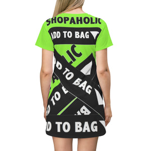 Shopaholic Add to Bag™ (Bandage/Fluorescent Green) T-shirt Dress