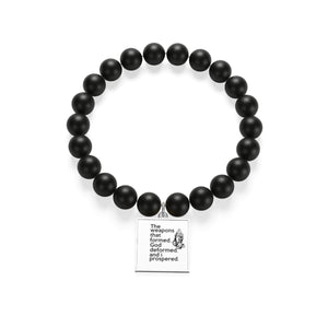 The Weapons That Formed (praying hands) ...sacred reminder everyday Matte Onyx Bracelet