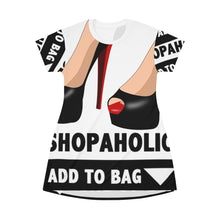 Load image into Gallery viewer, Shopaholic Add to Bag (Red Bottom heels)  T-shirt Dress