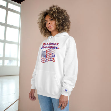 The UNITED States TeeAllAboutIt x Champion Unisex Hoodie