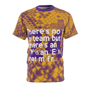 Shaq-Kobe Quote Mamba-Inspired Lakers Colors Unisex Tee
