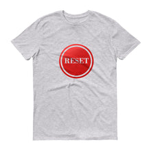 Load image into Gallery viewer, Reset Button (transparent) short-sleeve t-shirt