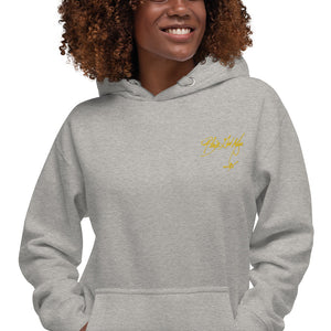 Black Girl Magic (yellow embroidered signature series) Unisex Hoodie