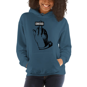 Middle finger (censored) Hooded Sweatshirt