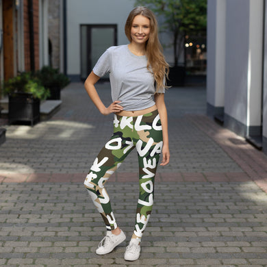 Make Love Not War Camou LEGGINGS