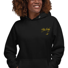 Load image into Gallery viewer, Black Girl Magic (yellow embroidered signature series) Unisex Hoodie