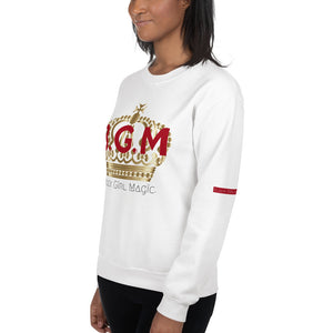 B.G.M (Black Girl Magic / gold crown) Unisex sweatshirt
