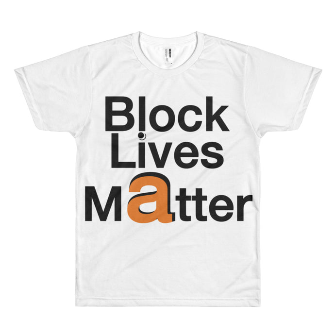 Block Lives Matter Big Letter Flex Driver short sleeve t shirt (*special edition)
