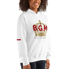 Load image into Gallery viewer, B.G.M (Black Girl Magic / gold crown) Unisex Hoodie