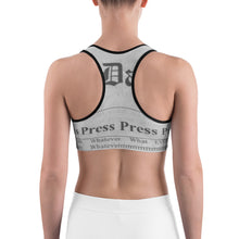 "Load image into Gallery viewer, ""Press Press Press Press Press"" Sports bra 🌠"