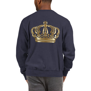 Michael Jackson White Silhouette No Crown Front Crown on back Champion™ Sweatshirt