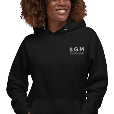 B.G.M Black Girl Magic (white embroidered) Unisex Hoodie