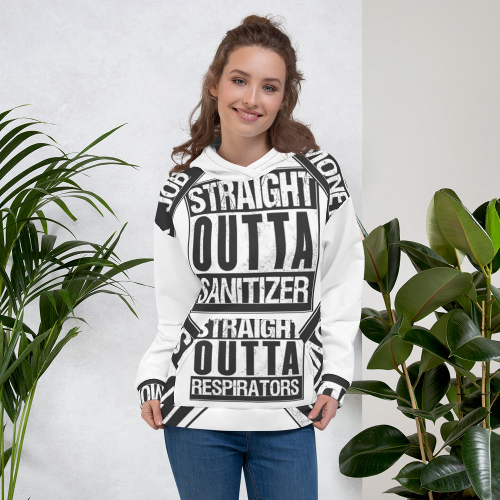 Straight Outta ( Corona COVID-19 edition ) Unisex Hoodie