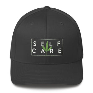 """ Self Care"" ( cannabis / white ) Structured Twill Cap"