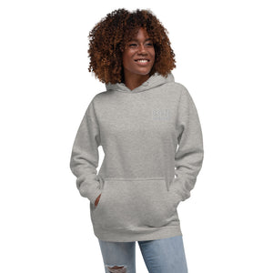 B.G.M Black Girl Magic (embroidered/grey) Unisex Hoodie