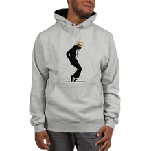 Load image into Gallery viewer, Michael Jackson Black Silhouette Crown on Head Champion™ Hoodie