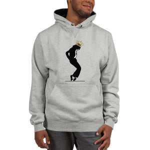 Michael Jackson Black Silhouette Crown on Head Champion™ Hoodie