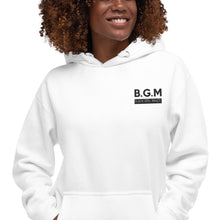 Load image into Gallery viewer, B.G.M. Black Girl Magic (black embroidered) Unisex Hoodie