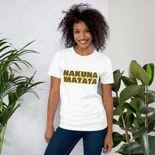 "Load image into Gallery viewer, "" Hakuna Matata "" (Lion King inspired) short-sleeve unisex tee"