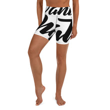 "Load image into Gallery viewer, ""PANTS FOR WHAT"" (white) women's Yoga/Biker Shorts"