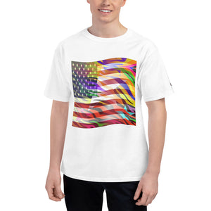 ZEBSTAR™ (American Flag) Men's Short-Sleeve (Champion ™) T-Shirt