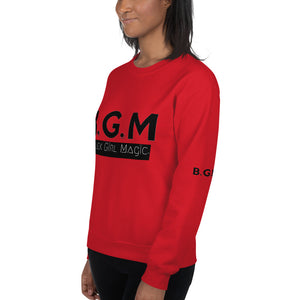 B.G.M Black Girl Magic (black band) Unisex Sweatshirt
