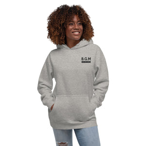 B.G.M. Black Girl Magic (black embroidered) Unisex Hoodie