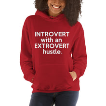 "Load image into Gallery viewer, "" Introvert with an Extrovert Hustle"" Hooded Sweatshirt"