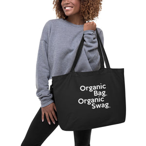 """ ORGANIC BAG ORGANIC SWAG "" Large organic tote bag"