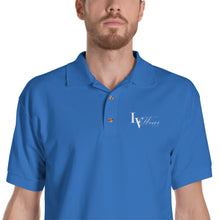 Load image into Gallery viewer, 📮📦 LV Wear Men's Embroidered Jersey Polo Shirt (⭐⭐⭐⭐⭐see closeup/fit video demo in description)