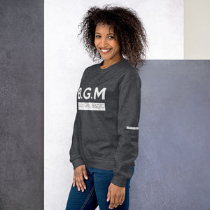 B.G.M Black Girl Magic (white band / sleeved) Unisex Sweatshirt