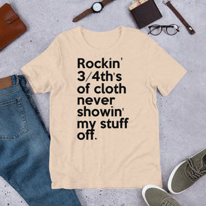 Rockin' 3/4th's of Cloth Never Showin' My Stuff Off Mary J. Blige & Method Man inspired 🌠 Short-Sleeve Unisex T-Shirt