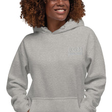 Load image into Gallery viewer, B.G.M Black Girl Magic (embroidered/grey) Unisex Hoodie