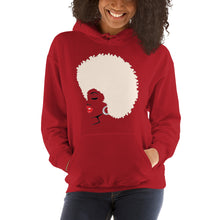 "Load image into Gallery viewer, "" Melanin Melanie "" (red lippie / blonde afro) Hooded Sweatshirt"