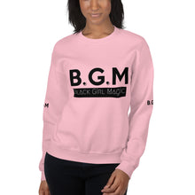 Load image into Gallery viewer, B.G.M Black Girl Magic (black band) Unisex Sweatshirt